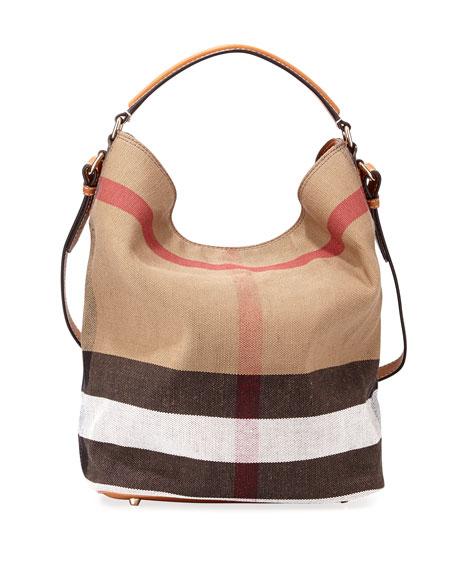 Burberry Susanna Medium Check Canvas Tote Bag 81edfdacc1df8