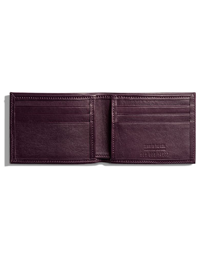 Wallet Saddle Leather Slim Leather Bifold Wallet