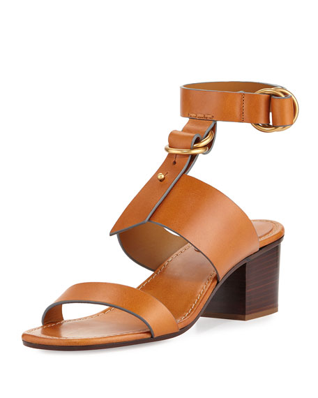 3df093c31a933 Chloe Kingsley Leather T-Strap Sandal