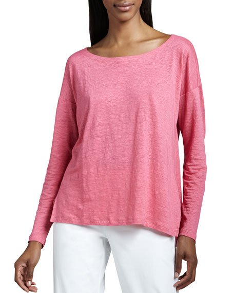 Linen Jersey Boxy Top