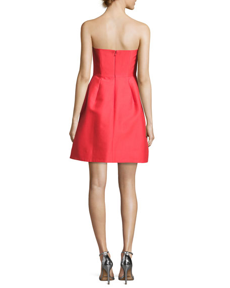 EXCL Strapless Silk Faille D