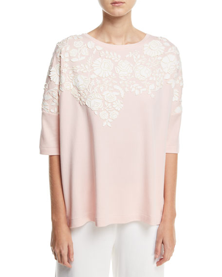 Joan Vass CLASSIC RELAXED BIG TEE WFLO