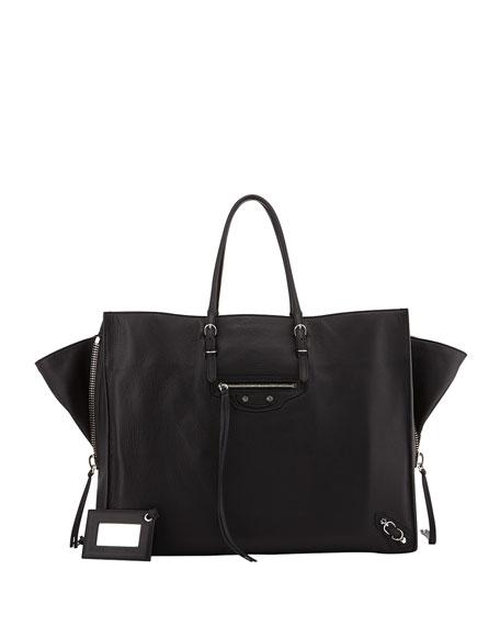 5bd208a8c3 Balenciaga Papier A4 Side Zip Leather Tote Bag