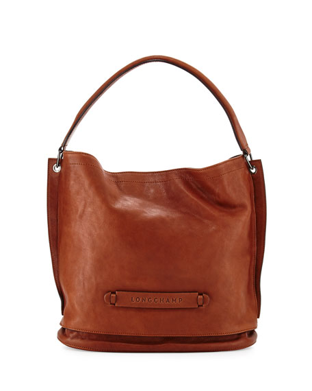 Longchamp Hobo Laukku : Longchamp d leather hobo bag