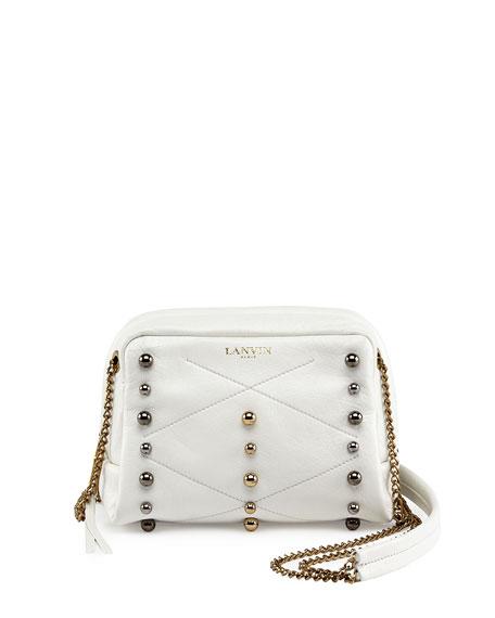 Mini Sugar Studded Crossbody Bag White