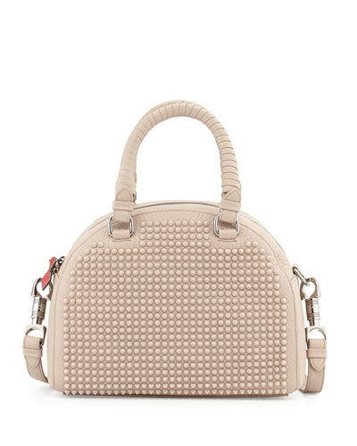 Panettone Small Spiked Satchel, Tan