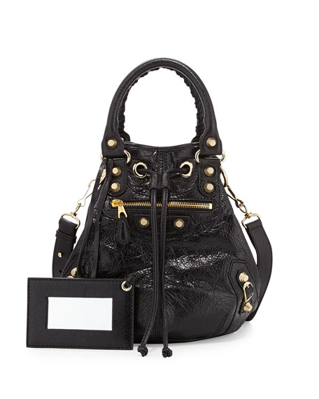 Balenciaga Giant 12 Golden Mini Pompon Bag, Black eac5872178