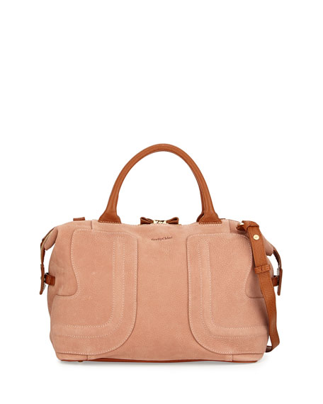 Kay Medium Satchel Bag Nougat