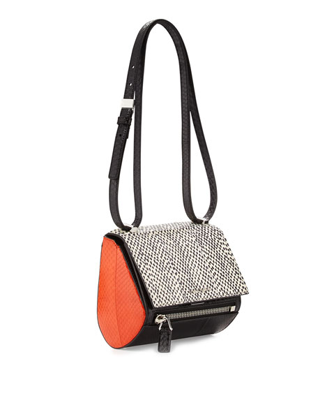 fcaa8615b712 Givenchy Pandora Mini Box Snakeskin Shoulder Bag