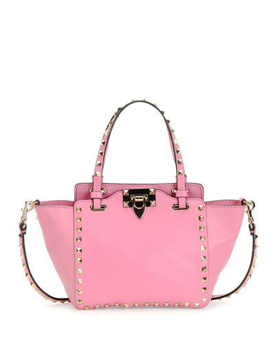 Rockstud Micro Mini Tote Bag, Pink