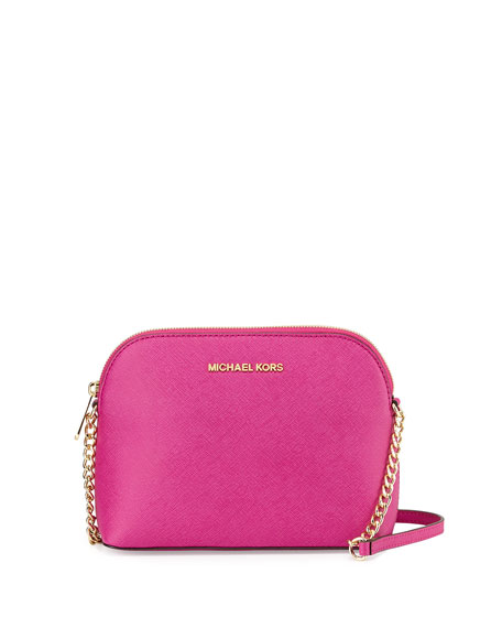 Jet Set Small Travel Dome Crossbody Bag Fuchsia