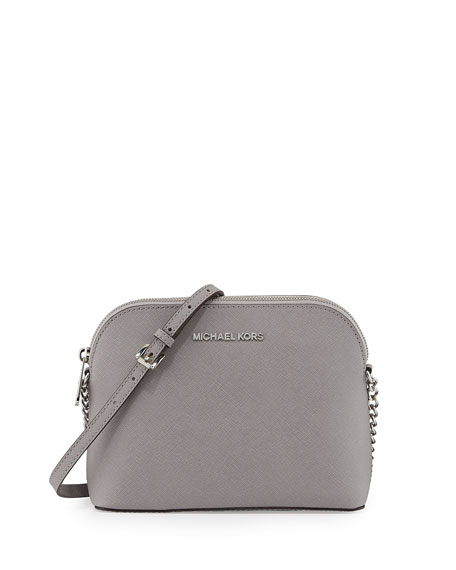 ea4882a98164 MICHAEL Michael Kors Cindy Large Dome Crossbody Bag, Pearl Gray