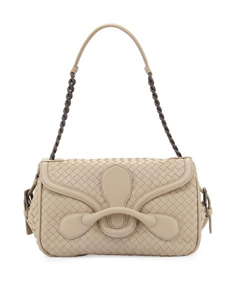 1afd561b081d Bottega Veneta Medium Intrecciato Flap Shoulder Bag