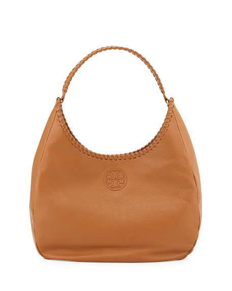 Marion Leather Hobo Bag Bark