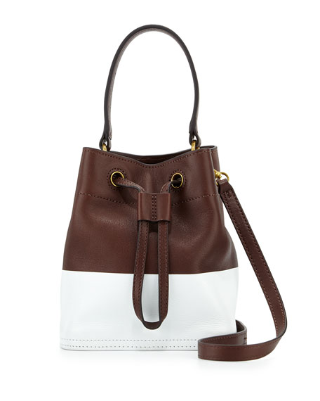 89421e23294d Tory Burch Mini Colorblock Leather Bucket Bag