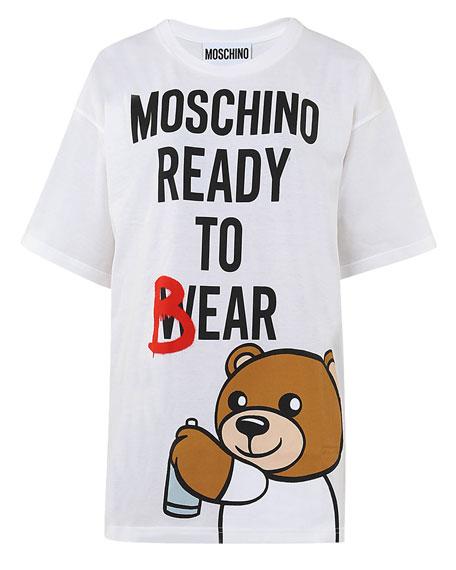 5dce71d0d3b Moschino Teddy-Bear-Print Tee Dress