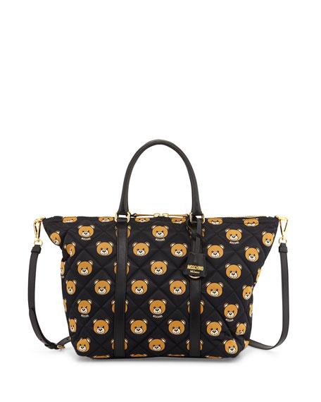 5ccff77ddd Moschino Quilted Medium Teddy Bear Shoulder Bag