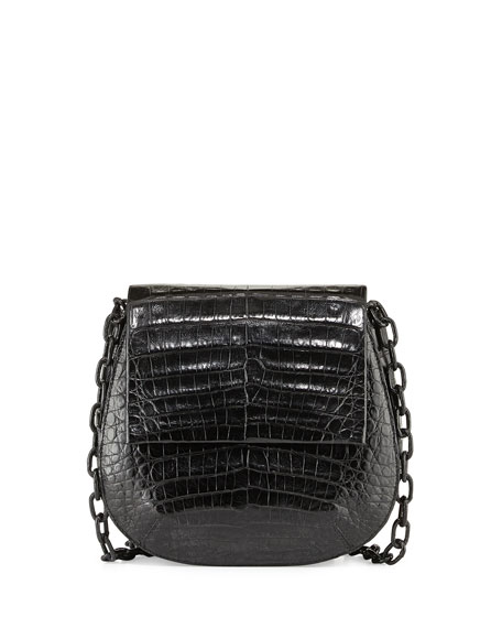 Nancy Gonzalez Round Flap-Top Crocodile Crossbody Bag RKojqSKg