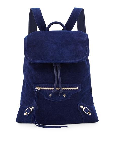 6c5a462452 Balenciaga Classic Traveler Suede Backpack