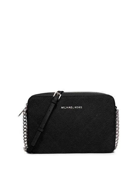 81dcfe5bdeec2 MICHAEL Michael Kors Jet Set Travel Large Crossbody Bag, Black
