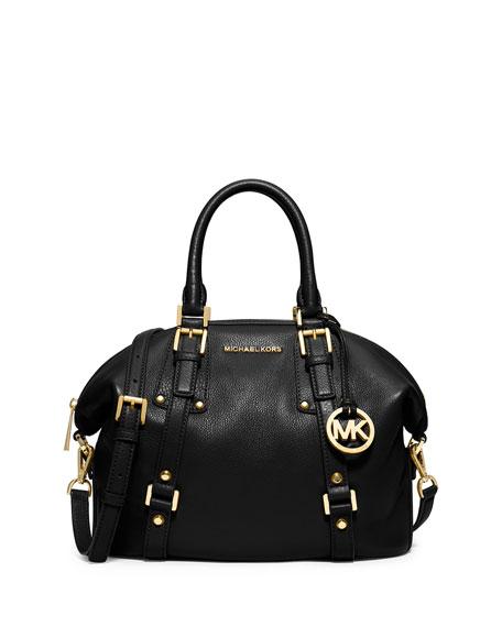 Bedford Belted Medium Satchel Bag Black