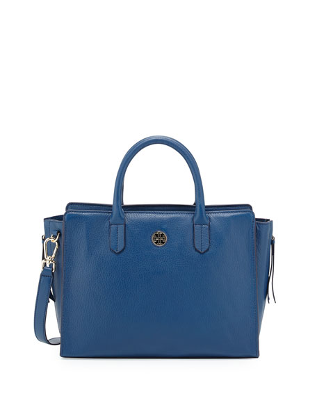 9f28140375 Tory Burch Brody Small Leather Tote Bag, Tidal Wave