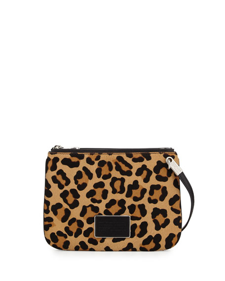 63eb262e1634 MARC by Marc Jacobs Ligero Leopard-Print Calf Hair Double Percy Crossbody  Bag