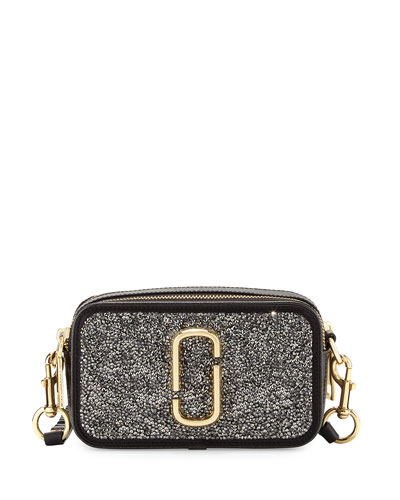 Snapshot Double Take Embellished Camera Bag, Dark Metal