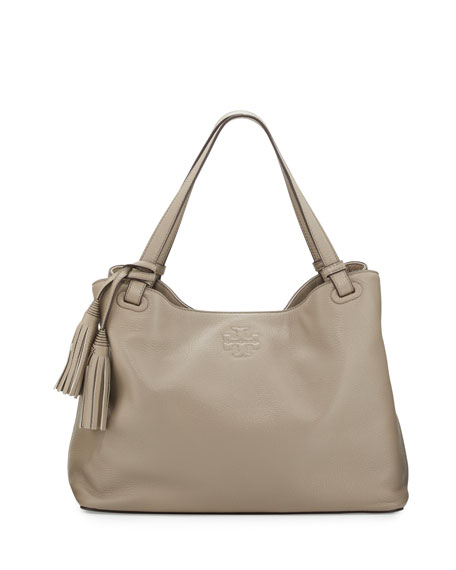 fb442003944 Tory Burch Thea Center-Zip Tote Bag, French Gray