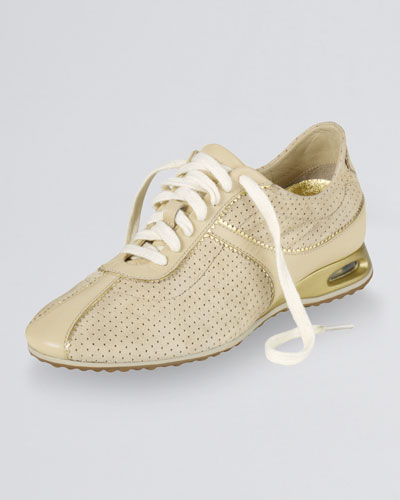 Air Bria Perforated Oxford Sneaker, Sandshell Suede