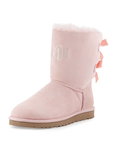 ugg australia pink bailey bow back boot. Black Bedroom Furniture Sets. Home Design Ideas