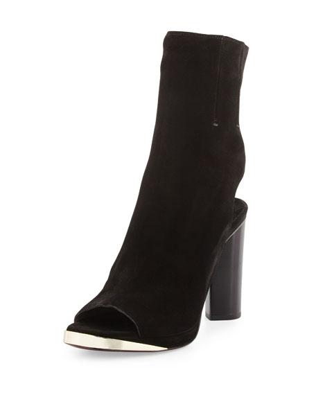 b114fcf924184e CoSTUME NATIONAL Suede Peep-Toe Glove Sandal