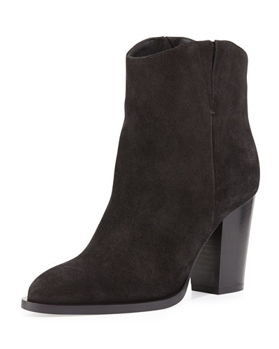 Erving Western Ankle Bootie, Black
