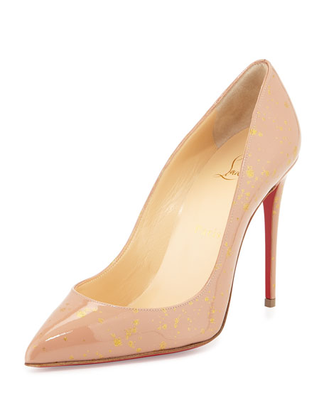 cheap for discount 7582e 60176 Pigalles Follies Red Sole Pump Nude/Gold