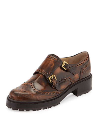 Iggy Brogue Runway Loafer, Saddle