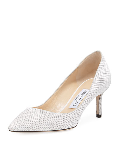 Romy 60mm Textured Leather Pump
