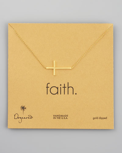 Integrated Cross Pendant Necklace