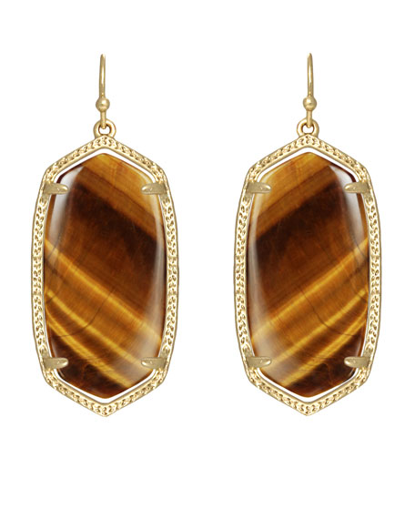 Elle Earrings Tiger S Eye