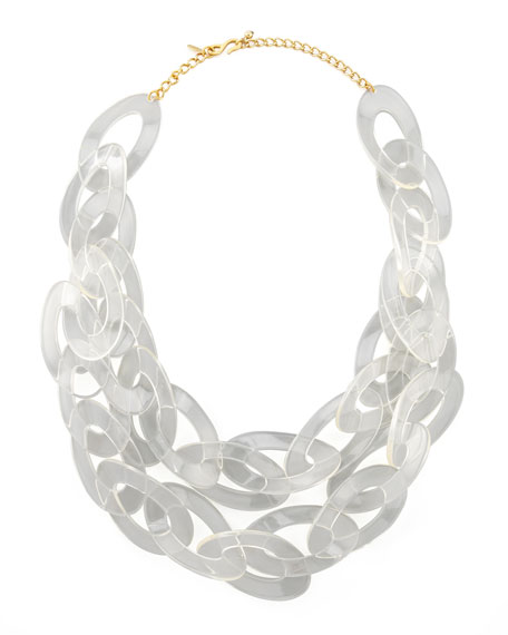 lucite necklace beaded