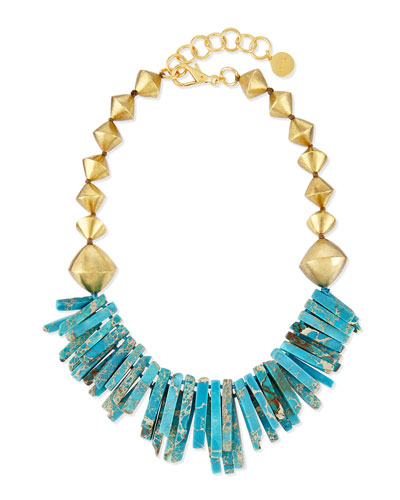 Turquoise Jasper Point Statement Necklace