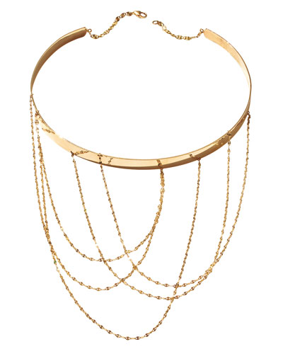 14K Gold Multi-Chain Choker Necklace