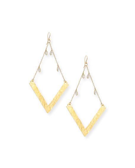 Devon Leigh Golden Wedge Dangle Drop Earrings LUEdaik6pS