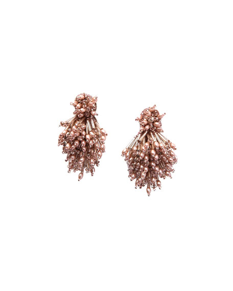 Mignonne Gavigan Burst Beaded Statement Earrings, Blush