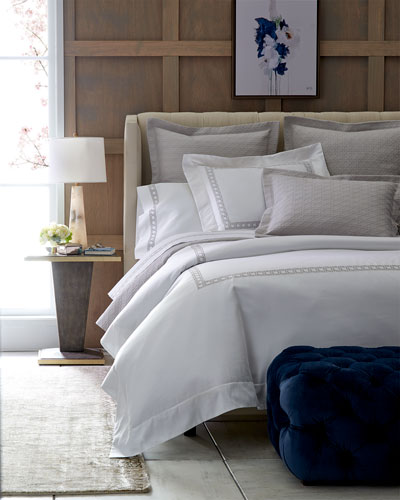 Cane-Embroidered Bedding