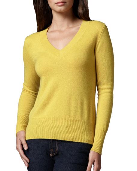 Neiman MarcusV-Neck Cashmere Sweater