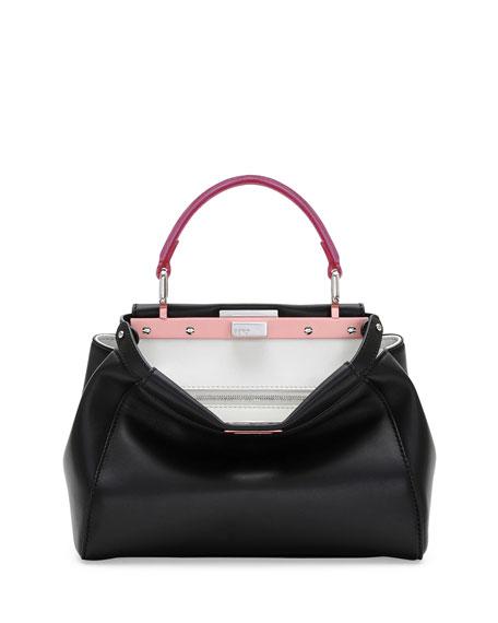 a71b2148d5e0 Fendi Peekaboo Mini Tricolor Satchel Bag