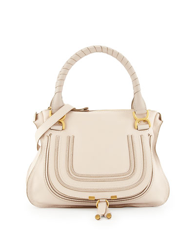 Marcie Medium Shoulder Bag, White