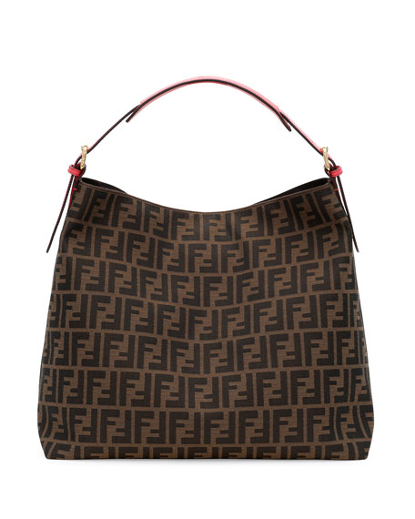 83239b0c1a4f Fendi Zucca-Print Large Canvas Hobo Bag