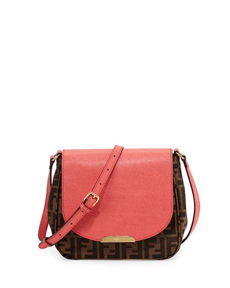 1b5e7a4a4 Fendi Zucca Small Crossbody Bag, Tobacco/Pink