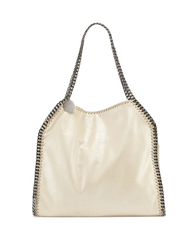 Falabella Baby Bella Shoulder Bag, Metallic Beige